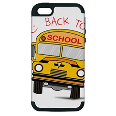 Back To School   School Bus Apple Iphone 5 Hardshell Case (pc+silicone)