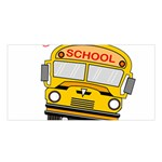 Back to school - school bus Satin Shawl Front