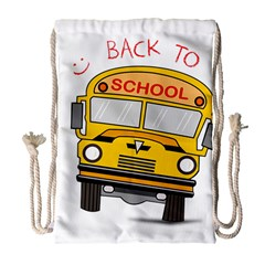 Back To School   School Bus Drawstring Bag (large)
