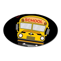 Back To School   School Bus Oval Magnet