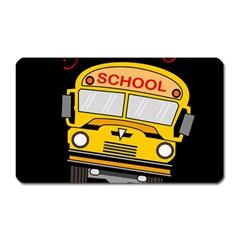 Back To School   School Bus Magnet (rectangular)