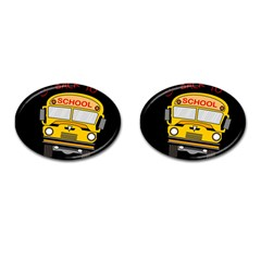 Back To School   School Bus Cufflinks (oval)