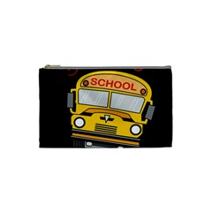 Back To School   School Bus Cosmetic Bag (small)