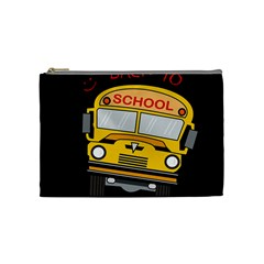 Back To School   School Bus Cosmetic Bag (medium)