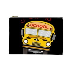 Back To School   School Bus Cosmetic Bag (large)