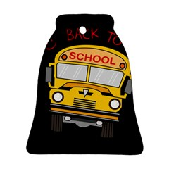 Back To School   School Bus Bell Ornament (two Sides)