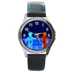 Space Boys  Round Metal Watch