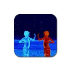 Space Boys  Rubber Coaster (square)