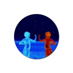 Space Boys  Rubber Round Coaster (4 Pack)