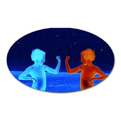 Space Boys  Oval Magnet