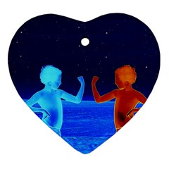 Space Boys  Heart Ornament (two Sides)