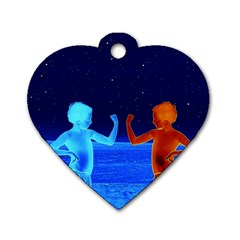 Space Boys  Dog Tag Heart (two Sides)