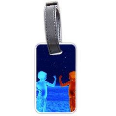 Space Boys  Luggage Tags (two Sides)