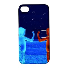 Space Boys  Apple Iphone 4/4s Hardshell Case With Stand