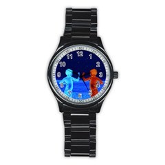 Space Boys  Stainless Steel Round Watch