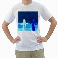 Space Boys  Men s T Shirt (white) (two Sided)