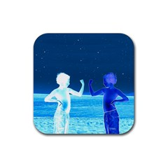 Space Boys  Rubber Square Coaster (4 Pack)
