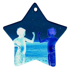 Space Boys  Star Ornament (two Sides)