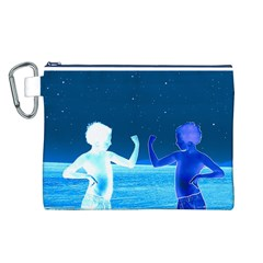 Space Boys  Canvas Cosmetic Bag (l)