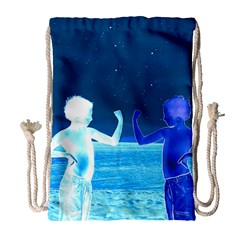 Space Boys  Drawstring Bag (large)