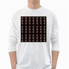 Folklore Pattern White Long Sleeve T Shirts