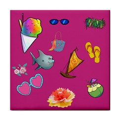 Aloha   Summer Fun 1 Tile Coasters
