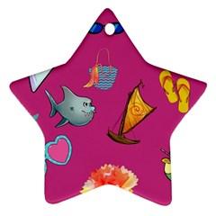 Aloha   Summer Fun 1 Ornament (star)