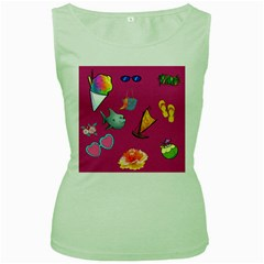 Aloha   Summer Fun 1 Women s Green Tank Top