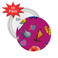 Aloha   Summer Fun 1 2 25  Buttons (10 Pack)