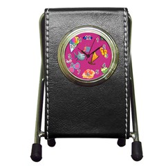 Aloha   Summer Fun 1 Pen Holder Desk Clocks