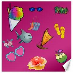 Aloha   Summer Fun 1 Canvas 12  X 12