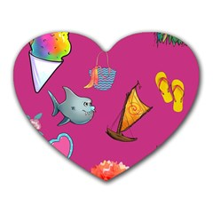 Aloha   Summer Fun 1 Heart Mousepads