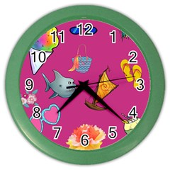 Aloha   Summer Fun 1 Color Wall Clocks