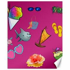 Aloha   Summer Fun 1 Canvas 11  X 14