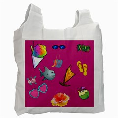Aloha   Summer Fun 1 Recycle Bag (one Side)