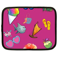 Aloha   Summer Fun 1 Netbook Case (xl)