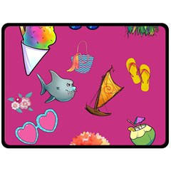 Aloha   Summer Fun 1 Fleece Blanket (large)