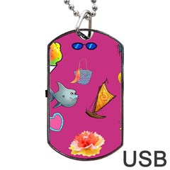 Aloha   Summer Fun 1 Dog Tag Usb Flash (two Sides)