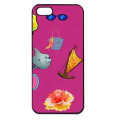 Aloha   Summer Fun 1 Apple Iphone 5 Seamless Case (black)