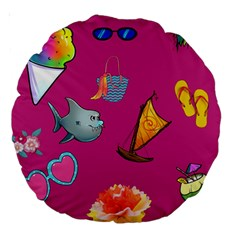 Aloha   Summer Fun 1 Large 18  Premium Round Cushions