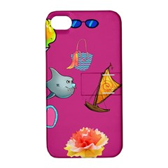 Aloha   Summer Fun 1 Apple Iphone 4/4s Hardshell Case With Stand