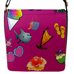 Aloha   Summer Fun 1 Flap Messenger Bag (s)