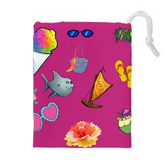 Aloha   Summer Fun 1 Drawstring Pouches (extra Large)