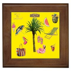 Aloha   Summer Fun 2 Framed Tiles