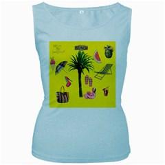 Aloha   Summer Fun 2 Women s Baby Blue Tank Top