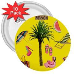 Aloha   Summer Fun 2 3  Buttons (10 Pack)