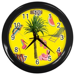 Aloha   Summer Fun 2 Wall Clocks (black)