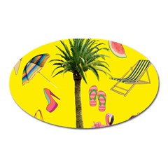 Aloha   Summer Fun 2 Oval Magnet