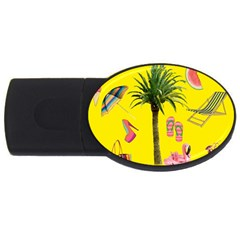 Aloha   Summer Fun 2 Usb Flash Drive Oval (2 Gb)