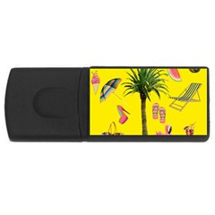 Aloha   Summer Fun 2 Rectangular Usb Flash Drive